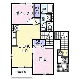 モダン・ジェルメI[2階]の間取り