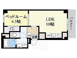 阪急京都本線 茨木市駅 徒歩9分の賃貸マンション 1階1LDKの間取り