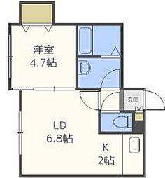 北海道札幌市東区北十六条東1丁目の賃貸マンションの間取り