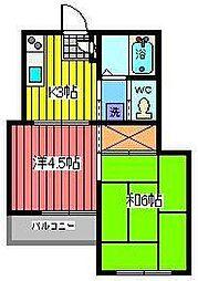 クリーンハイツ南浦和[3階]の間取り
