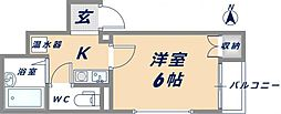 ジュノー小阪[3階]の間取り