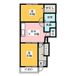 ライゼ A棟[1階]の間取り