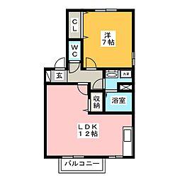 クレマチスB[2階]の間取り