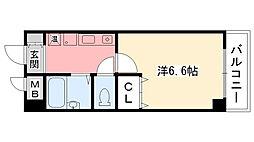 パルメーラ甲子園口[502号室]の間取り