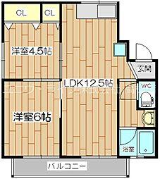 木下第2マンション[3階]の間取り
