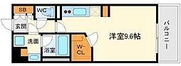 アパートメンツ江坂[3階]の間取り
