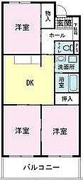 静岡県裾野市水窪の賃貸マンションの間取り