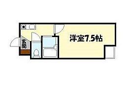 ジョリーフローラ[5階]の間取り