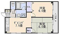 祇園尾前ビル[8階]の間取り