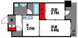 プライムアーバン香椎[6階]の間取り