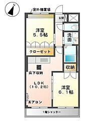 メゾン小六[1階]の間取り