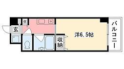 ブランベール甲東園[404号室]の間取り