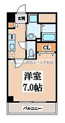 ルミエール玉造[5階]の間取り