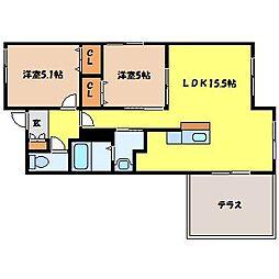 北海道札幌市中央区南二十三条西7丁目の賃貸マンションの間取り