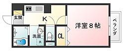 ボナール大澤I[1階]の間取り