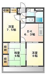 佐々木マンション[1階]の間取り