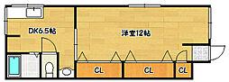 兵庫県神戸市兵庫区下沢通8丁目の賃貸アパートの間取り