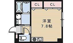 コスタ河堀口[202号室]の間取り