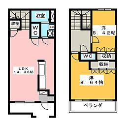 [テラスハウス] 静岡県静岡市清水区梅が岡 の賃貸【/】の間取り