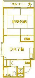 サンマンションオザワ[3階]の間取り