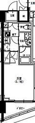 東武亀戸線 曳舟駅 徒歩5分の賃貸マンション 2階1Kの間取り