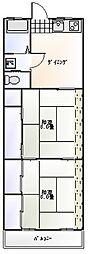 横山第3ハイツ[103号室]の間取り