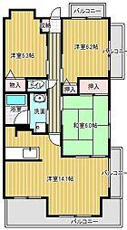 愛知県名古屋市千種区猫洞通3丁目の賃貸マンションの間取り