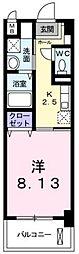 広島県福山市南蔵王町3の賃貸マンションの間取り