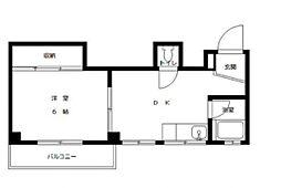 兵庫県神戸市東灘区本山北町3丁目の賃貸マンションの間取り