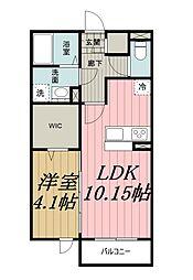 千葉県千葉市若葉区小倉台3丁目の賃貸アパートの間取り