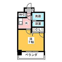 エスリード大須観音プリモ 7階1Kの間取り