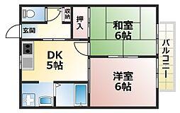 兵庫県神戸市灘区青谷町2丁目の賃貸アパートの間取り