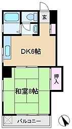 東京都豊島区駒込6丁目の賃貸マンションの間取り