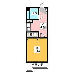 第三幸楽ビル[4階]の間取り