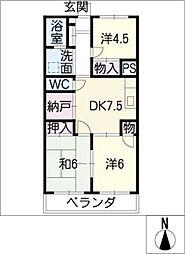 室賀レジデンス[4階]の間取り