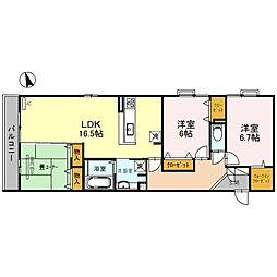 仮)D-room古曽部町5丁目[3階]の間取り