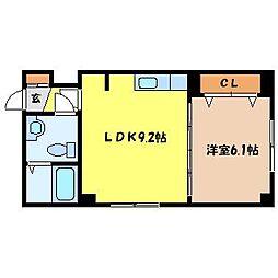 北海道札幌市中央区北九条西18丁目の賃貸マンションの間取り