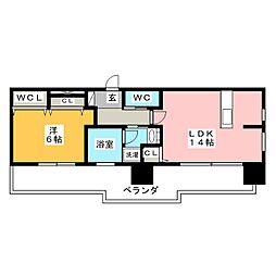 FIRST RESIDENCE SAKAE[15階]の間取り