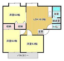 プルケルP[2階]の間取り
