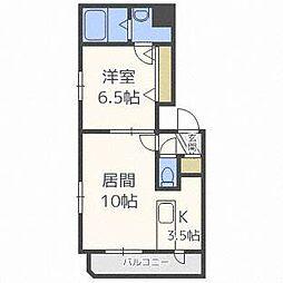 クラリス東札幌[4階]の間取り