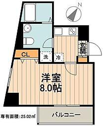 東武大師線 大師前駅 徒歩3分の賃貸マンション 1階1Kの間取り