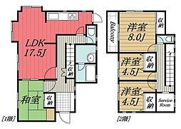 [一戸建] 千葉県佐倉市大崎台4丁目 の賃貸【/】の間取り