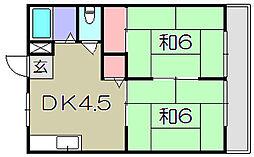 いづみニューハイツA棟[1階]の間取り