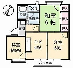 広島県安芸郡海田町成本の賃貸アパートの間取り