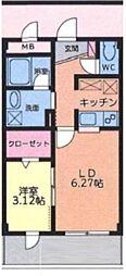 大室ノースコート[304号室号室]の間取り