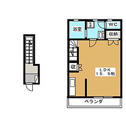 ラ・リベルタ[2階]の間取り
