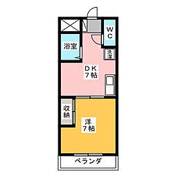 第5名昭ビル[2階]の間取り