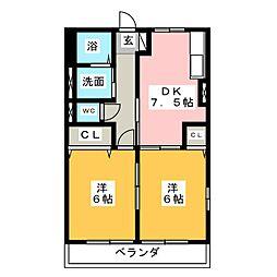 愛知県名古屋市南区東又兵ヱ町4丁目の賃貸アパートの間取り