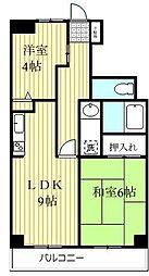 NICニックハイム金沢八景[102号室]の間取り