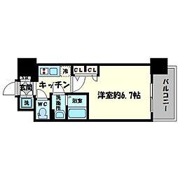 エスリード心斎橋EAST[8階]の間取り